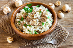 Mushroom risotto Royalty Free Stock Photos