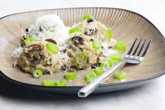 Mushroom rissoto. Still life of mushroom rissoto Stock Photos