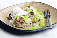 Mushroom rissoto Stock Photo