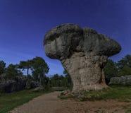 Mushroom rock Cuenca IV. Night shot of the enchanted city of Cuenca Mushroom-rock Royalty Free Stock Images