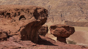 Mushroom rock formation at Timna park , Israel. Mushroom rock formation at Timna park in Negev desert, Israel . Once site of the world's first copper mines Stock Photo