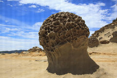 Taiwan Mushroom rock formation,Yehliu geopark Royalty Free Stock Images