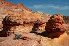 Mushroom Rocks. Vermilion Cliffs royalty free stock images