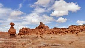 Mushroom rocks and bizarre sandstone rock formations called goblins Stock Image