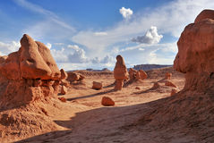 Mushroom rocks and bizarre sandstone rock formations called goblins Stock Photography