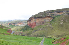 The Mushroom Rocks in the Golden Gate Highlands National Park Royalty Free Stock Photos
