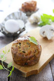 Mushroom`s muffin Royalty Free Stock Photography