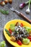 Mushroom Salad Stock Photo