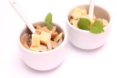 Mushroom salad with cheese Stock Photo