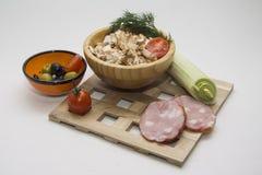 Mushroom salad Stock Images