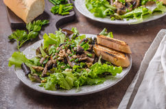 Mushroom salad with walnuts Royalty Free Stock Image