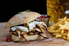 Mushroom sandwich Royalty Free Stock Images