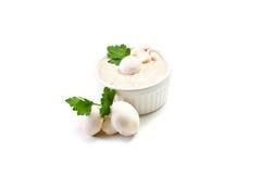 Mushroom sauce on white background Stock Image