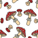 Mushroom seamless pattern. Stock Image