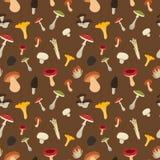 Mushroom seamless pattern Stock Photo