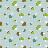 Mushroom seamless pattern Stock Images