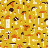 Mushroom seamless pattern Royalty Free Stock Photos