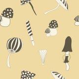 Mushroom seamless Royalty Free Stock Photo