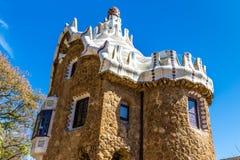 Mushroom Shaped House-Park Guell, Barcelona, Spain. Mushroom Shaped Gate House - Park Guell, Barcelona, Catalonia, Spain, Europe Stock Image