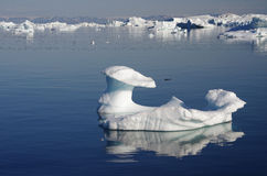 Mushroom shaped iceberg, Greenland Stock Photography