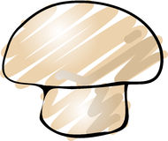 Mushroom sketch Stock Image