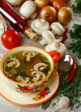 Mushroom soup. Royalty Free Stock Images
