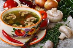 Mushroom soup. Royalty Free Stock Photo