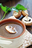 Mushroom soup . Stock Photo