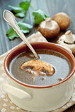 Mushroom soup . Royalty Free Stock Photography