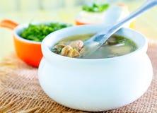 Mushroom soup Stock Image