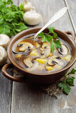 Mushroom soup with champignons Royalty Free Stock Images