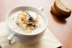 Mushroom soup with cream Royalty Free Stock Photography
