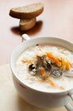 Mushroom soup with cream Stock Photo
