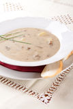 Mushroom soup with cream and potatoes Stock Images