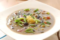 Mushroom soup with garlic and onion Stock Image
