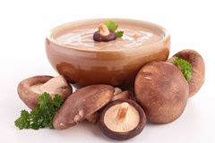Mushroom soup isolated Royalty Free Stock Images