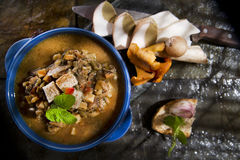 Mushroom Soup Mixed Royalty Free Stock Images