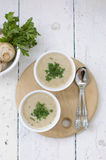Mushroom soup with parsley Royalty Free Stock Photo