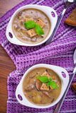 Mushroom soup with potato Royalty Free Stock Image