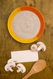 Mushroom soup puree Stock Images