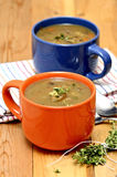 Mushroom soup with thyme Royalty Free Stock Photography