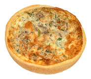 Mushroom And Spinach Quiche Royalty Free Stock Photography