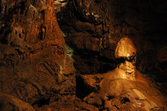 Mushroom stalactite at Red cave,Ukraine Stock Photo