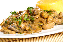 Mushroom stew Royalty Free Stock Photo