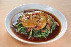 Mushroom Stewed Abalone Royalty Free Stock Photo