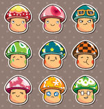 Mushroom Stickers Royalty Free Stock Photography