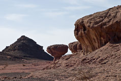Mushroom-stone. This shot was taken at geological Park Timna, Israel stock photography