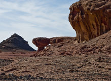 Mushroom-stone. This shot was taken at geological Park Timna, Israel royalty free stock images