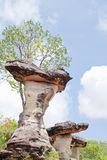 Mushroom stone and blue sky Royalty Free Stock Photography
