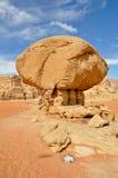 Mushroom Stone, Wadi Rum (Jordan) Royalty Free Stock Photos